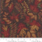 Moda - Country Charm by Holly Taylor - 7067 - Foliage on Barnwood Brown - 6791 17 - Cotton Fabric